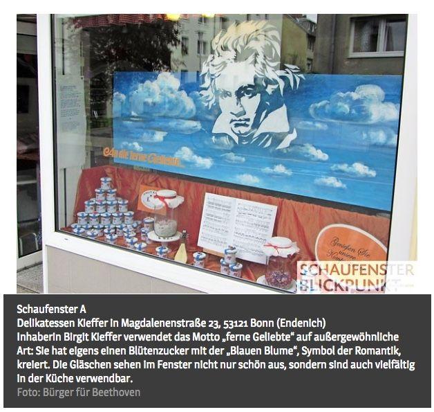 Beethoven in Bronze: Feinkostgeschäft Kieffer in Endenich